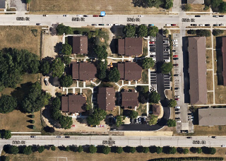 Arbor Green Apartments Aerial View
